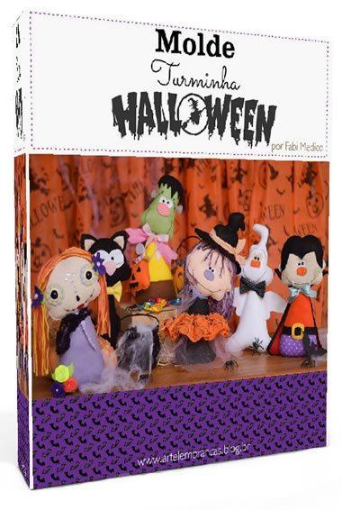 Apostila de feltro grátis - 6 monstrinhos de Halloween