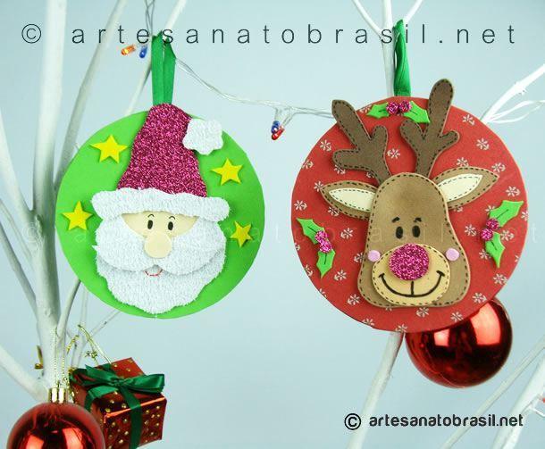 Artesanato com Cd: Enfeite de Natal