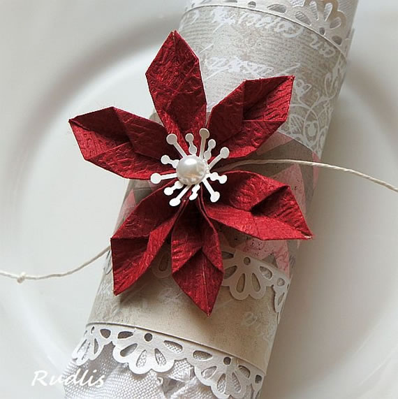 porta-guardanapo-com-flor-de-origami