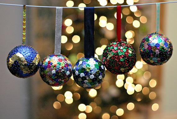 Bolas de natal brilhantes!