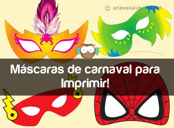 Máscara de carnaval para Imprimir