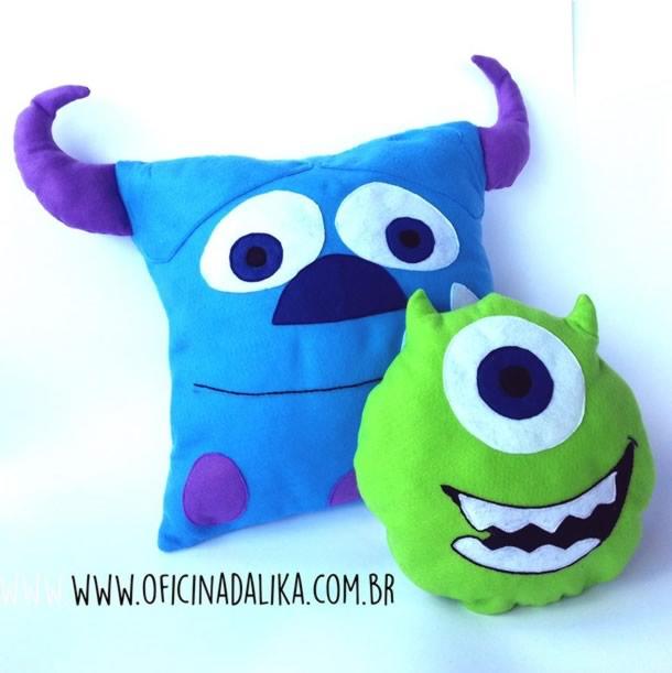 Almofadas dos Monstros SA da Disney