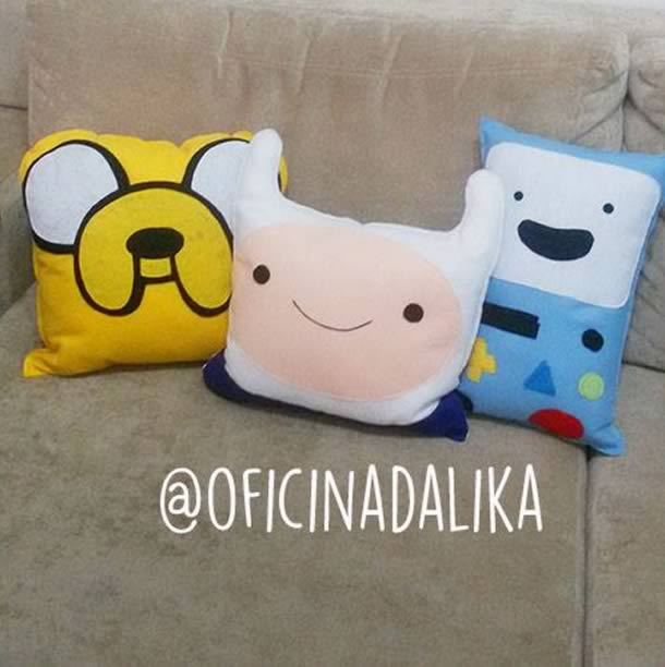 Almofadas do Jack, Finn e BMO do Hora de Aventura