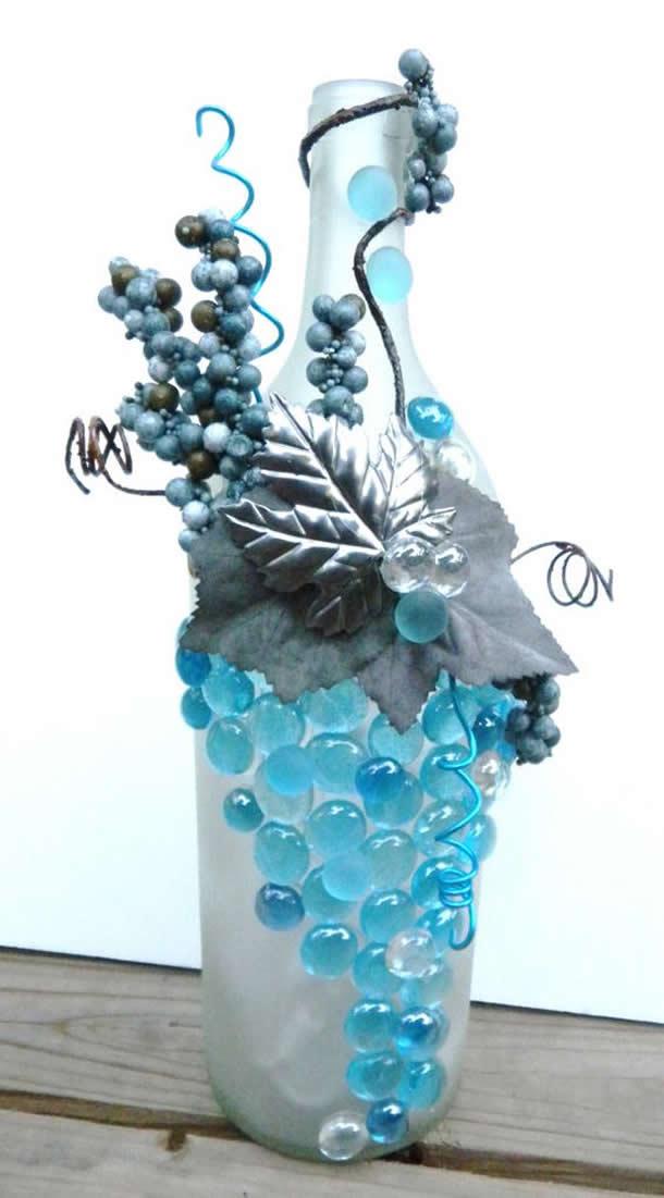 ➜ Artesanato Garrafa de Vidro Gema #garrafa