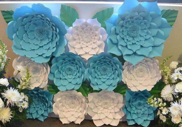 festa-frozen-flores-papel