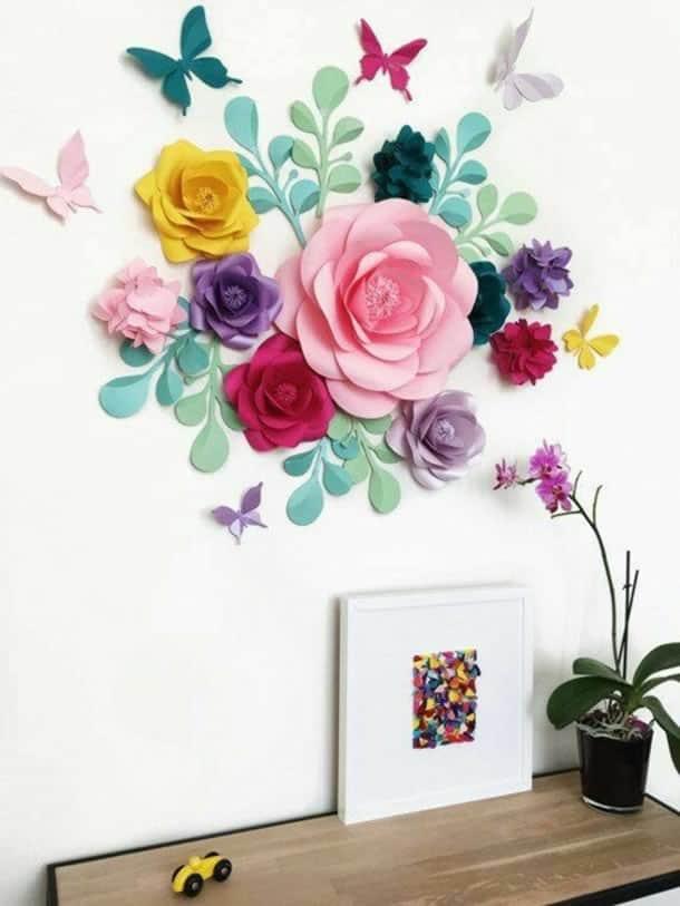 flor-gigante-de-papel-coloridas