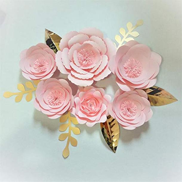 flor-gigante-de-papel-rosas