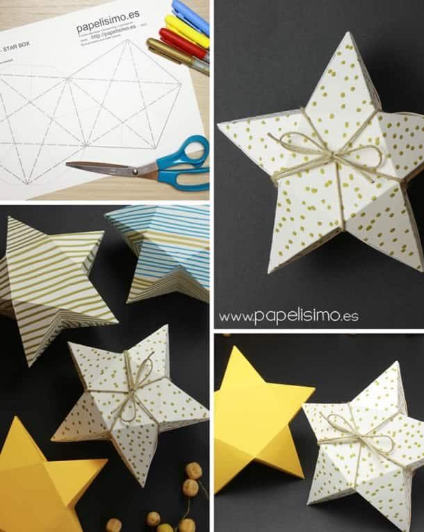 como-fazer-caixa-presente-estrela
