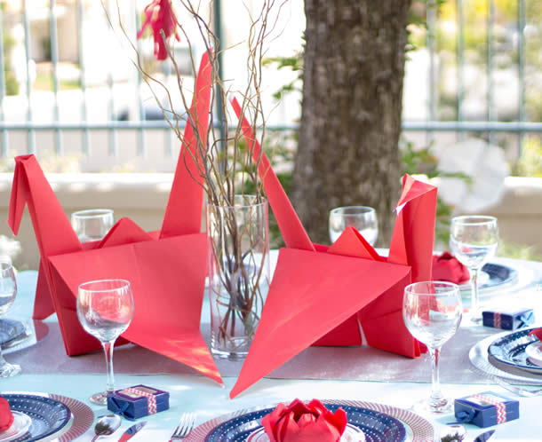 centro-de-mesa-para-casamento-origami