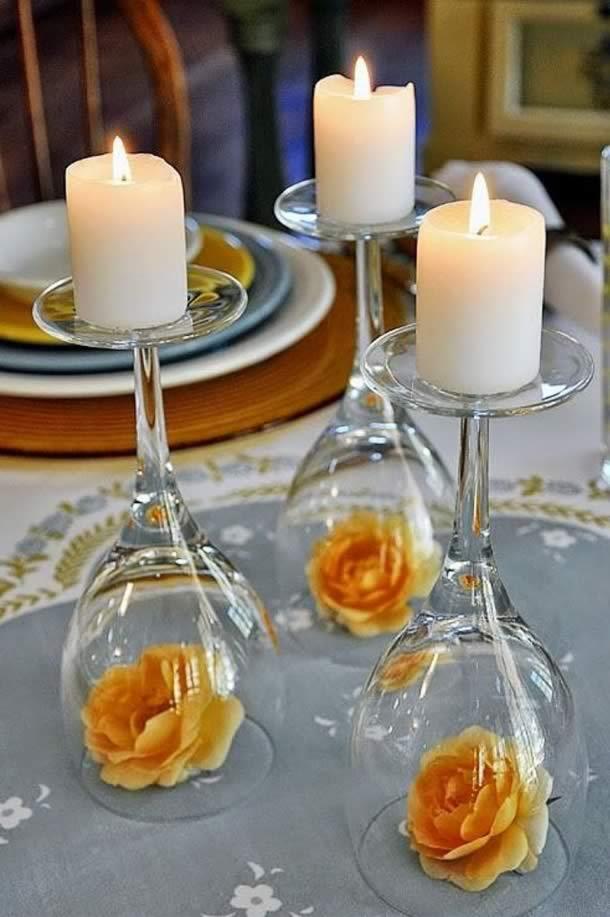 centro-de-mesa-para-casamento-tacas-rosas