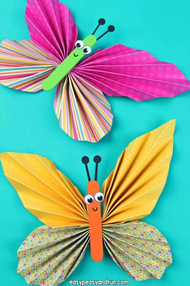 animais-de-papel-borboleta-colorida