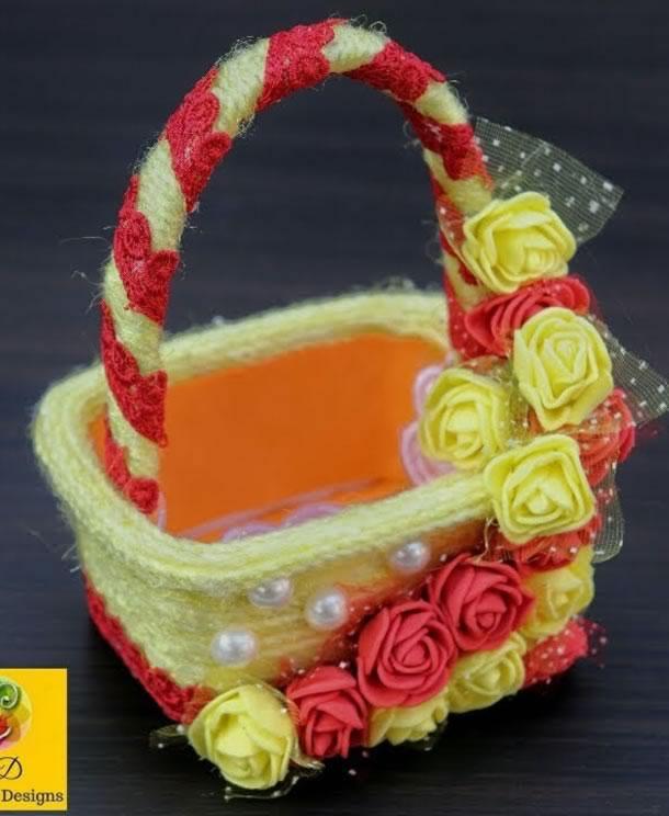 artesanato-com-potes-de-margarina-cesta
