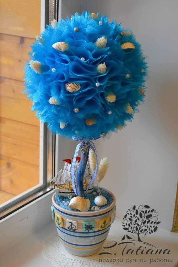 centros-de-mesa-15-anos-topiaria-azul