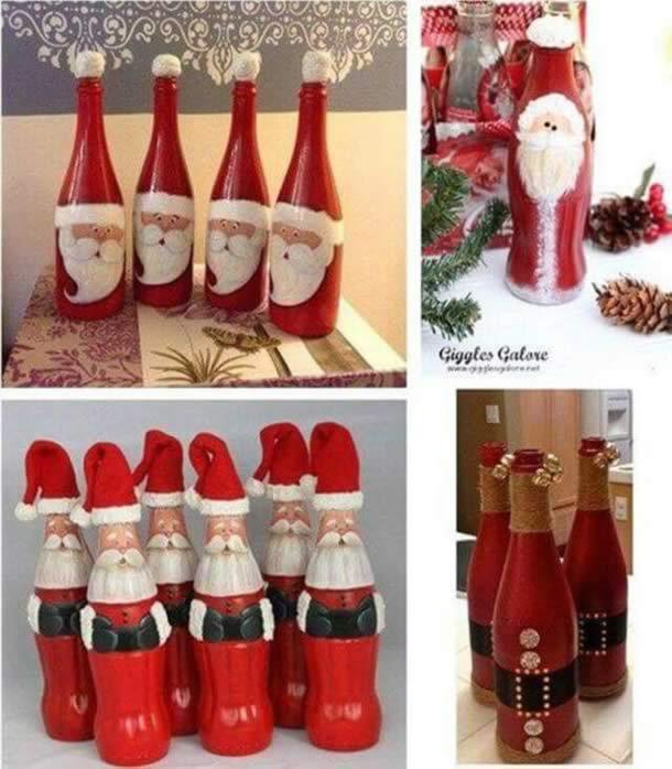 decoracao-de-natal-simples-garrafas