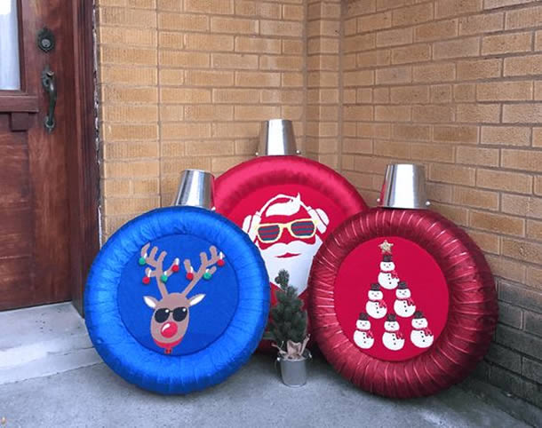 decoracao-de-natal-simples-pneus