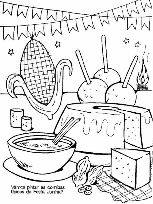 desenhos-juninos-comidas