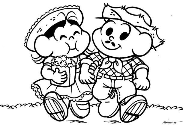 desenhos-juninos-magali-cebolinha
