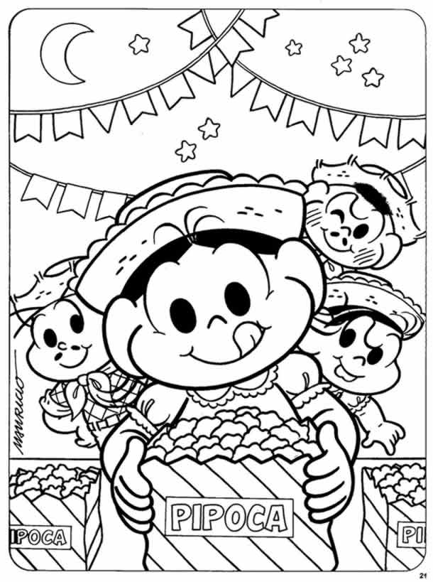 desenhos-juninos-magali