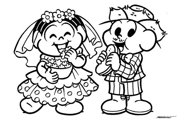 desenhos-juninos-noivos-comendo
