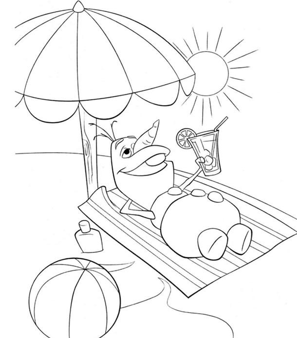 desenhos-para-colorir-frozen-olaf-praia