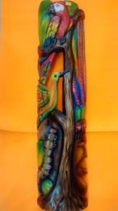 MASCARA TALLADA EN SAUCE  VISIONES DEL YAGE 68 X 15cm $95.000 (9)