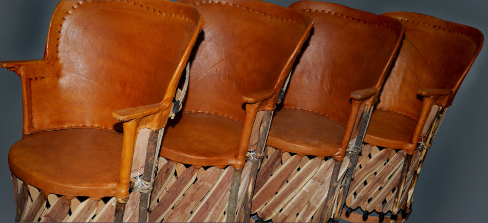 EQUIPAL FURNITURE Pronounced (Eck-U-Paul) A southwest traditional furniture made with pigskin leather and cedar slats. Made in Talquepaque section of Mexico. Indoor or covered Patio Safe, padded or unpadded- A comfortable furniture.