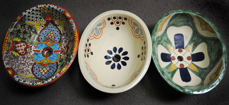 SINKS Artesanos offers a very large array of sinks - Stone, Glass, Metals and Talavera. There are thousands of options.