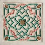 Elemento decorativo pintado de escayola