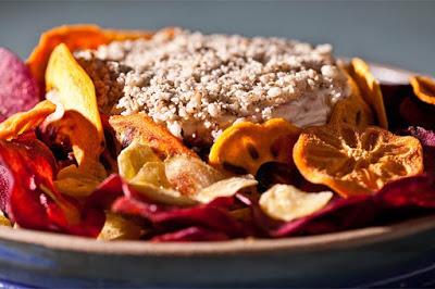 Terrine de Jabuticaba com Chips de Batata Roxa, Banana e Caqui….simplesmente DIVINO!!!!