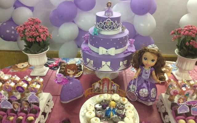 Decoração Festa Infantil  – Tema Princesa Sofia – 3 anos Isadora!!!