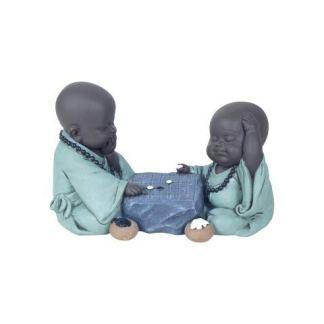 Figura de Monjes Jugando Decoración