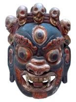 Máscara rara coleção Mahakala Tibet
