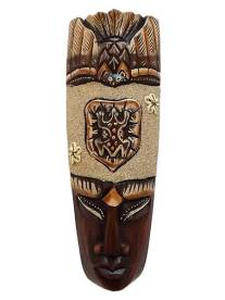 máscara de bali em madeira