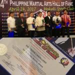El Maestro S. Caballero es premiado como 'Top 10 Filipino Martial Artists' en Manila  (entrada publicada en 2017)