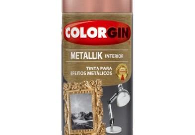 Colorgin lança a cor Rose Gold, novo spray metálico da linha Metallik