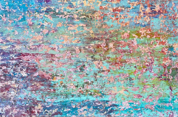 """Richard Wurm artworks for """"The colours of spring"""" online auction by Artespace gallery."""