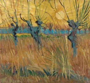 Van Gogh-Gelsi potati al tramonto-1888