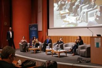 De gauche à droite : Pierre Gouabault, Françoise Liot, Laëtitia Mailho, Mehdi Idir, Catherine Ollivet, Séverine Legrand © Estelle Lucas