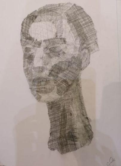 papierový portrét