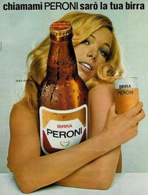 La bionda spumeggiante della birra Peroni