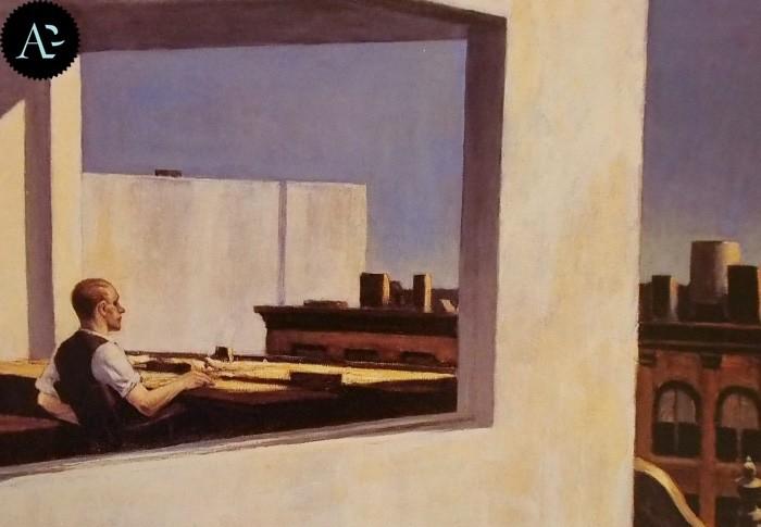 Ufficio in una piccola città Edward Hopper 1953