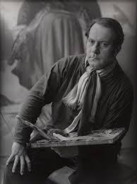 Pietro Annigoni nel suo studio