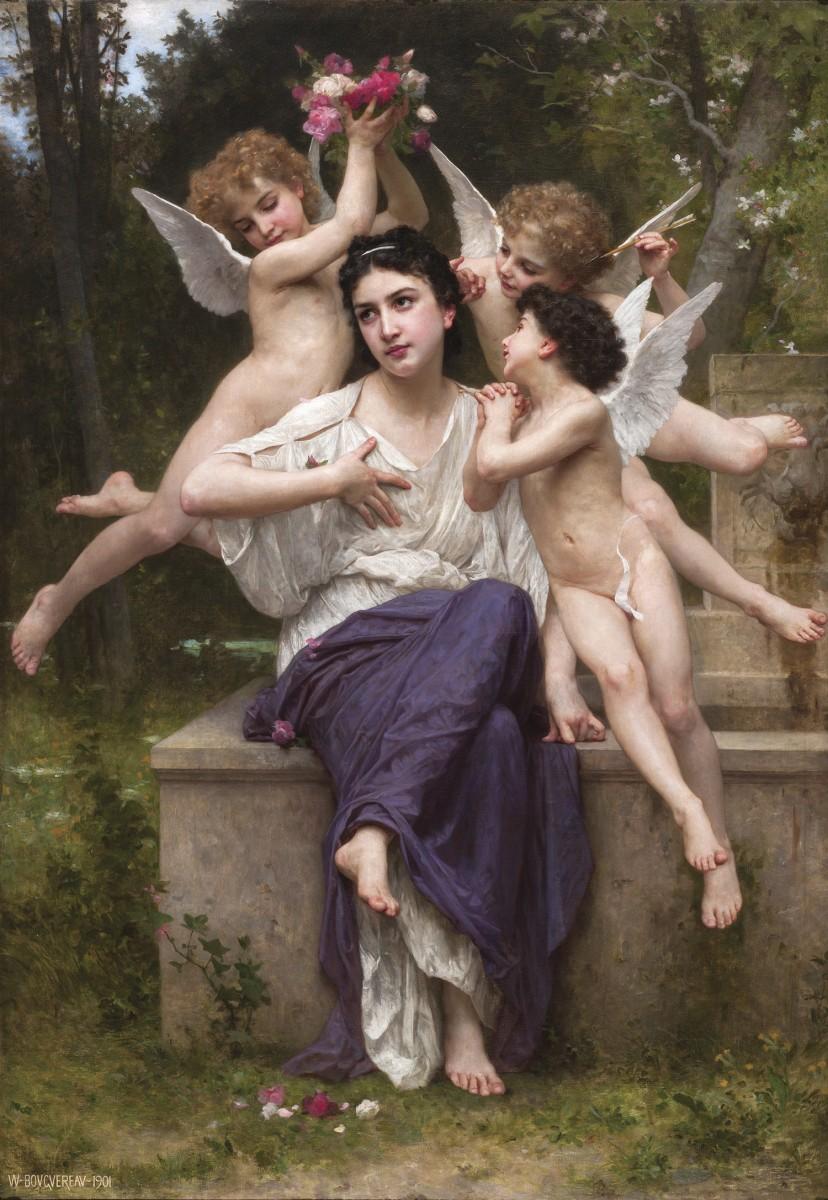 Sogno di primavera William A. Bouguereau 1901