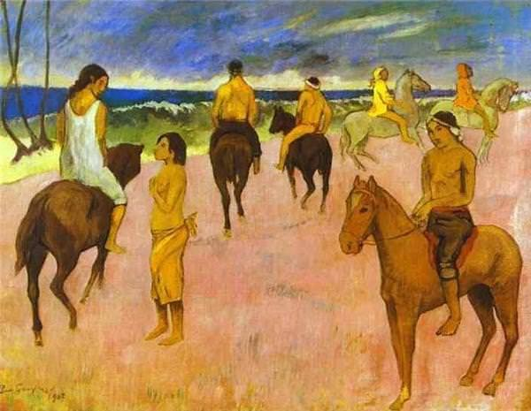 Riders on the beach Paul Gauguin 1902