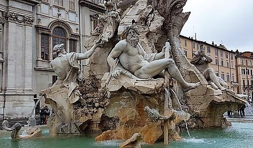 La fontana dei quattro fiumi Gian Lorenzo Bernini 1648-1651