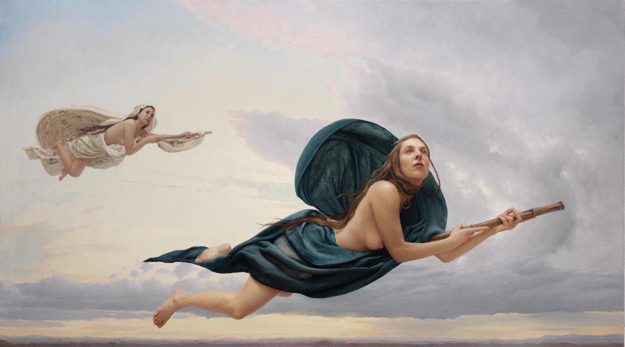 Arantza Martinez y el romanticismo onírico de sus pinturas.
