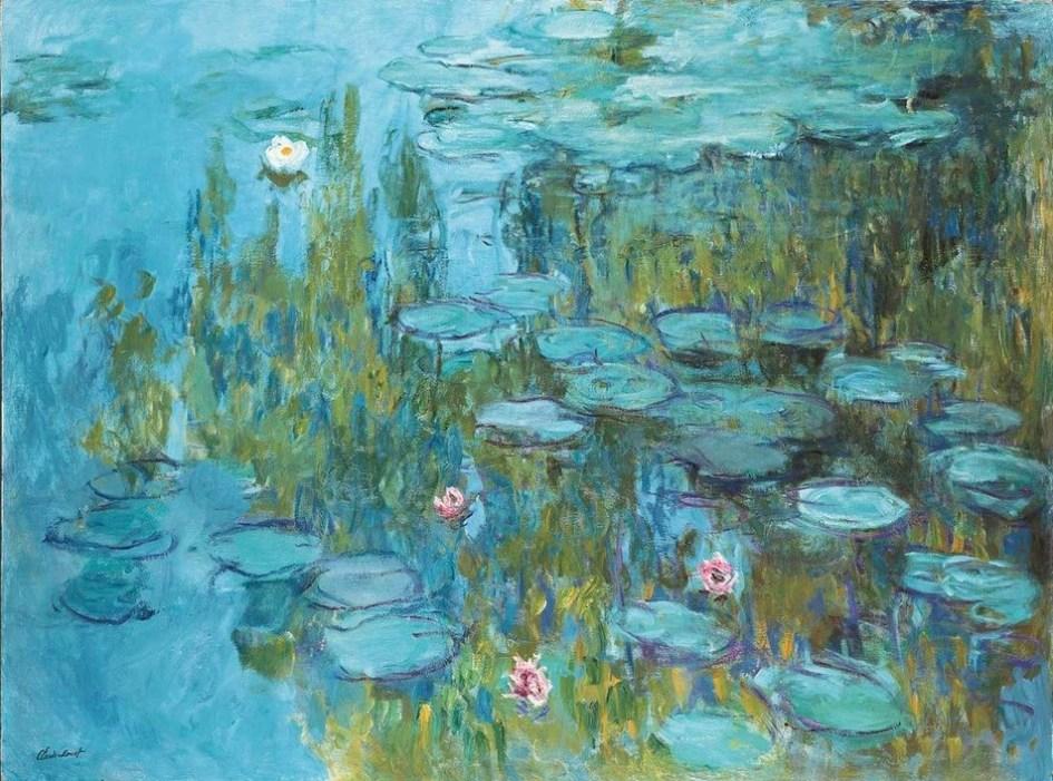 Monet en acción. Pintando los nenúfares de Giverny.