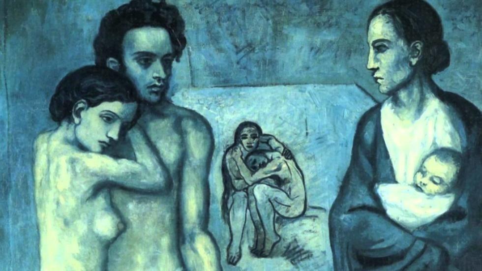 Picasso, del azul al rosa. La evolución hacia el cubismo.