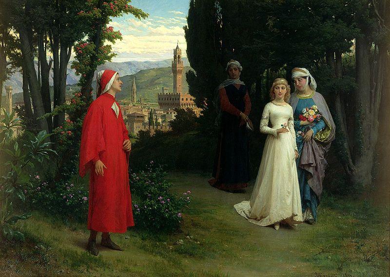 Amores eternos que el Arte hace inmortales. Dante y Beatriz.
