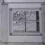 Por ellos (concurso Héroe) - paisaje en ventanal. Por Francisco Calvo